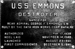 Emmons data plate