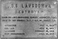 Lansdowne data plate