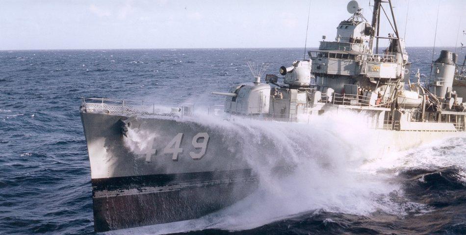 Destroyer History Uss Nicholas Dd 449 Fletcher Class
