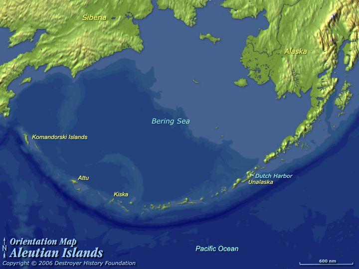 Destroyer History — Orientation Map: Aleutian Islands on map of lesser antilles, map of new zealand, map of philippines, map of trobriand islands, cascade range, map of west indies, unalaska island, map of indonesia, map of alaska, hawaiian islands, kuril islands, adak island, kamchatka peninsula, kodiak island, bering sea, map of galapagos islands, sierra nevada, alaska peninsula, tierra del fuego, map of great lakes, map of antigua islands, battle of the aleutian islands, map of alaskan islands, diomede islands, map of diomede islands, map of kodiak island, map of virgin islands national park, attu island, map of united states, map of atka island, fox islands, map of gilbert islands, bering strait, map of singapore, map of kurile islands, map of bering island,