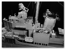 Gibbs & Cox Agerholm finished model, port side