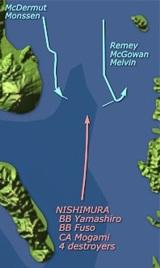 DesRon 54 at the Battle of Surigao Strait