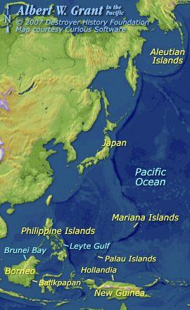 Albert W. Grant in the Pacific