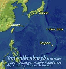 Van Valkenburgh in the Pacific