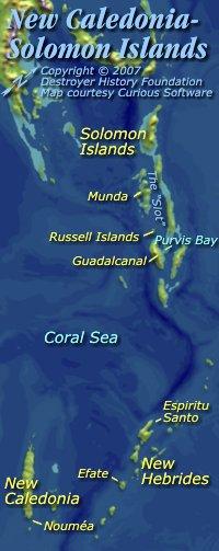 New Caledonia to Solomon Islands