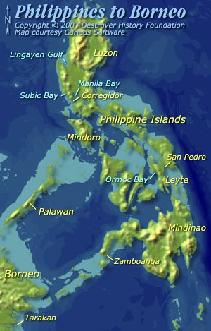Philippine Islands to Borneo