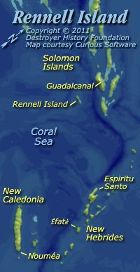 Rennell Island approaches