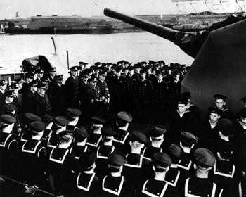 USS Johnston commissioning ceremony