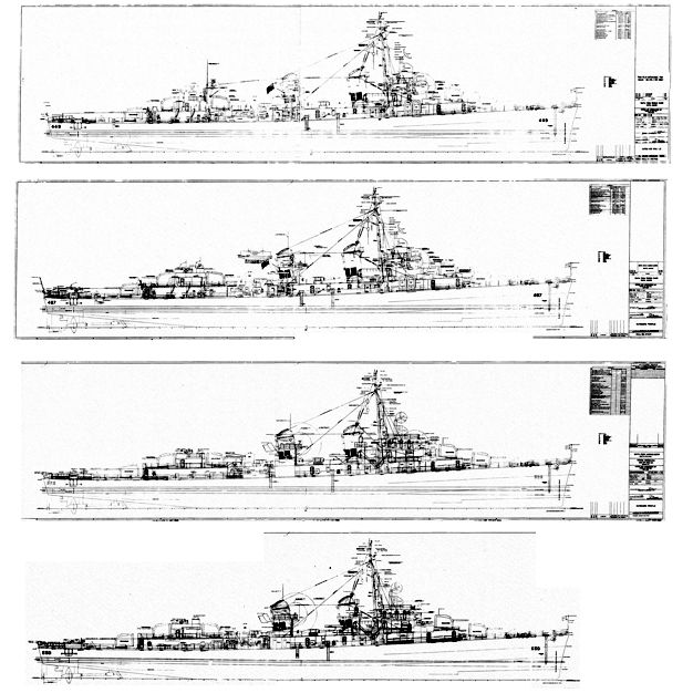 Fletcher-class engineering drawings