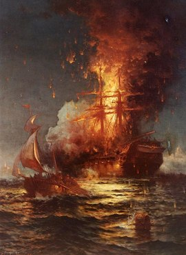 Burning the Philadelphia at Tripoli