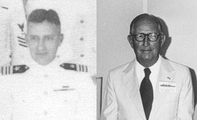 RAdm. William Cole in 1942 and 1980
