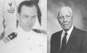 RAdm. Joseph Wylie in 1942 and 1992