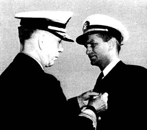 Lt. Hutchins receives the Navy Cross