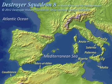 DesRon 8 in North Africa and the Mediterranean