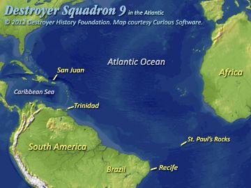 DesRon 9 in the Atlantic